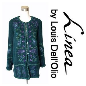 Linea Louis Dell'Olio Embroderied Wool Jacket